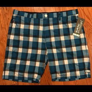 Billabong men's Stringer shorts blue plaid size XL